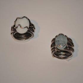anello gomitolo con pietra